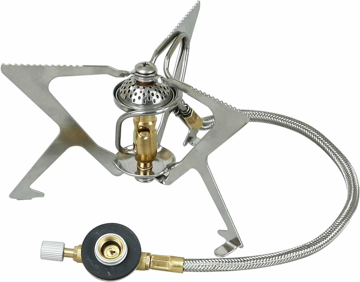 Горелка газовая Track Sharp33243Track Sharp - оптимальная для походов и путешествий газовая горелка, которая промозглым ранним утром скрасит подъем, а в конце трудного дня поможет быстро приготовить ужин. Мощная, устойчивая, легкая горелка быстро поможет вскипятить воду в любой емкости - от кружки до пятилитровой кастрюли. Изделие компактно пакуется после использования. Три опоры обеспечивают устойчивость горелки и позволяют ставить на нее посуду с различной площадью основания. Зубчатые кромки держателей не дают скользить посуде. Узел крепления баллона отделен от горелки 40 сантиметровым топливопроводным шлангом, что в свою очередь повышает ее устойчивость. Система предварительного нагрева топлива гарантирует экономичную стабильную работу, способствует более полному сгоранию газа. Для горелки подходят баллоны с резьбовой системой крепления или цанговые баллоны при наличии переходника.Расход газа: 185 г/ч.Топливо: сжиженный газ.Вес без чехла: 147 г.