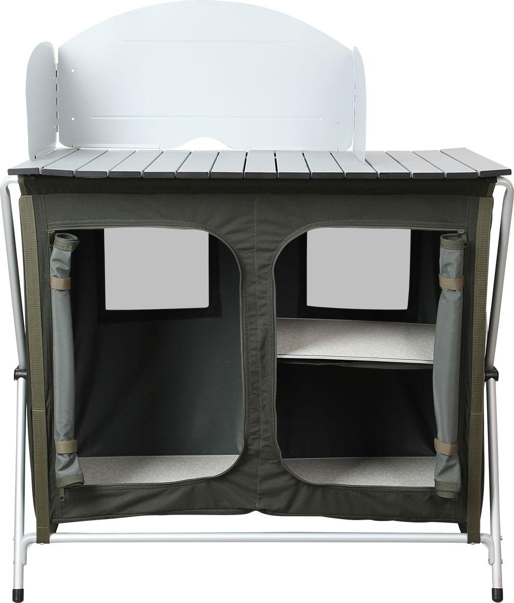Стол складной Сплав TR - 94, кухонный24246Стол складной Сплав TR - 94 - это незаменимый предмет походной мебели, очень удобен в эксплуатации. Складной стол выполнен из алюминия и пластика. Два внутренних отсека для хранения посуды и еды, выполненные из полиэстера, закрываются на молнию. На задней стенке имеется окно из сетки для вентиляции. В комплект входят промежуточные полки из МДФ, ветрозащитный экран и удобный чехол для переноски. Стол легко собирается и разбирается, не занимает много места, поэтому подходит для транспортировки и хранения дома. Складной стол прекрасно подойдет для комфортного отдыха на даче или в походе.Вес стола: 7,4 кг.Максимальная нагрузка: 30 кг.Размер в собранном виде: 87 х 50 х 80 см.Размер в упаковке: 90 х 50 х 10 см.Каркас выполнен из алюминиевой трубы диаметром 19 мм.Столешница выполнена из алюминиевых планок размером 55 х 11 мм.