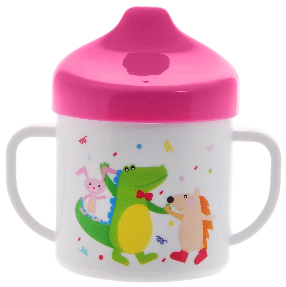 Canpol Babies Чашка-поильник цвет малиновый 200 мл -  Поильники