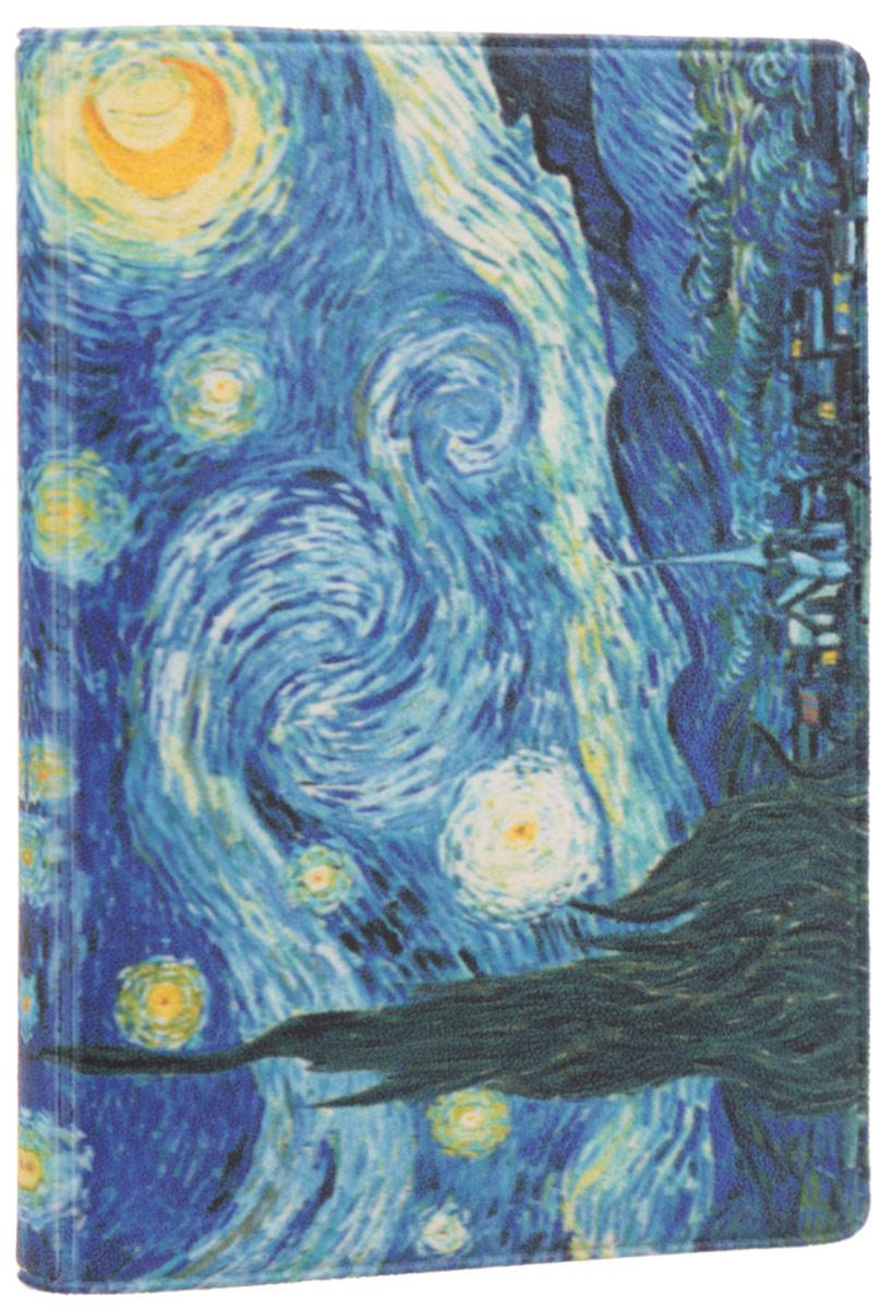 Визитница Mitya Veselkov Ван Гог. Звездная ночь, цвет: синий, желтый. VIZAM027B16-11416Оригинальная визитница Mitya Veselkov Ван Гог. Звездная ночь прекрасно подойдет для хранения визиток и пластиковых карт. Визитница выполнена из ПВХ и оформлена изображением художественного произведения Винсента Ван Гога Звездная ночь. Внутри содержится съемный блок из прозрачного мягкого пластика на восемнадцать визиток и два прозрачных боковых кармана.Стильная визитница подчеркнет вашу индивидуальность и изысканный вкус, а также станет замечательным подарком человеку, ценящему качественные и практичные вещи.