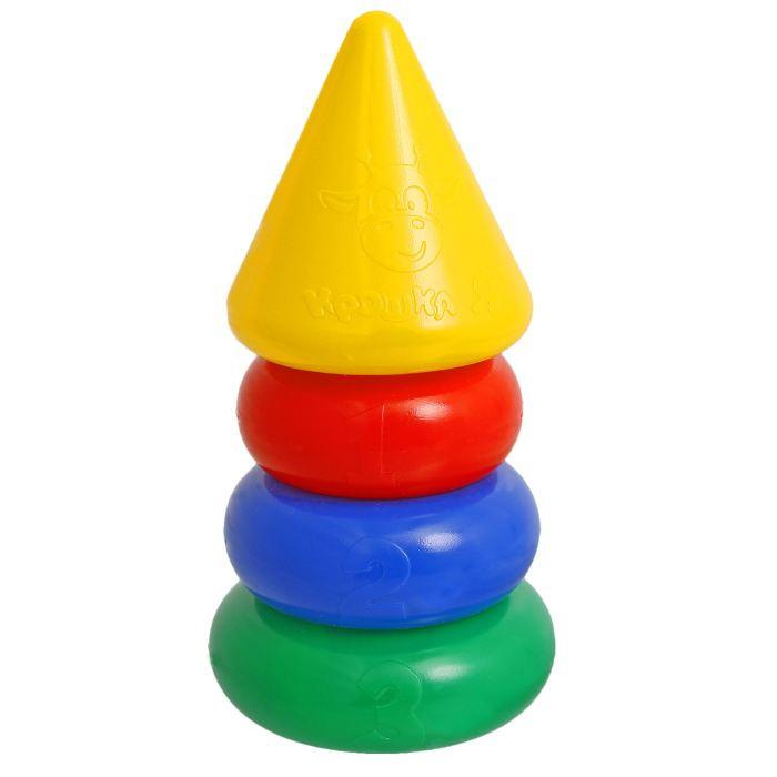 Крошка Я Пирамидка 3 кольца, с конусом