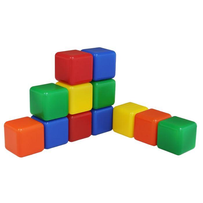 Крошка Я Кубики цветные 12 шт
