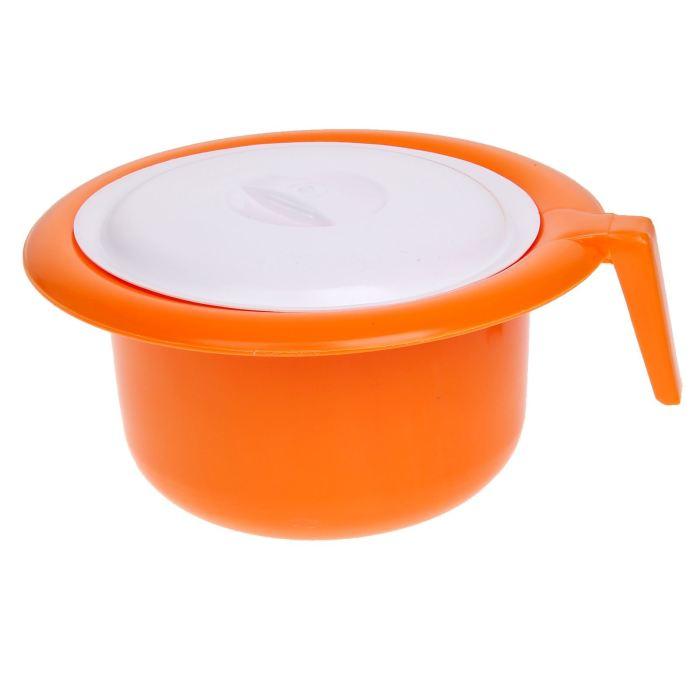 Крошка Я Горшок детский с крышкой цвет оранжевый