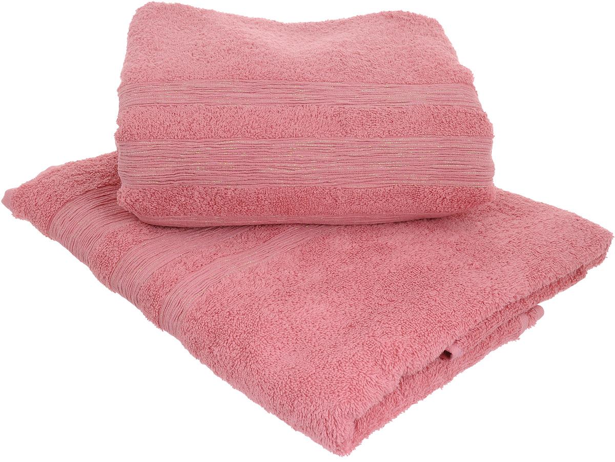 Набор махровых полотенец Унисон Caprice, цвет: розовый, 70 х 140 см, 2 шт68/5/4Набор Унисон Caprice состоит из двух махровых полотенец одного размера, выполненных изнатурального 100% хлопка. Изделия отлично впитывают влагу, быстро сохнут, сохраняют яркостьцвета и не теряют формы даже после многократных стирок.Торговая марка Унисон соединяет в своих изделиях достойный уровень качества, новейшие дизайнерские технологии и заботу о наиболее комфортном отдыхе. Рекомендации по уходу: - Махровые полотенца следует стирать при температуре 40 градусов;- Сушить при низкой и средней температуре; - Не использовать отбеливатели.Размеры полотенец: 70 х 140 см.