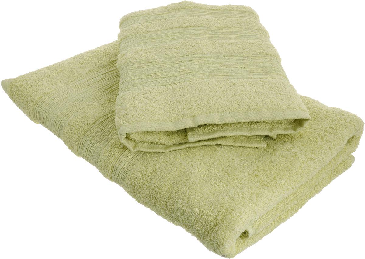 Набор махровых полотенец Унисон Caprice, цвет: светло-зеленый, 2 штS03301004Набор Унисон Caprice состоит из двух махровых полотенец разного размера, выполненных изнатурального 100% хлопка. Изделия отлично впитывают влагу, быстро сохнут, сохраняют яркостьцвета и не теряют формы даже после многократных стирок.Торговая марка Унисон соединяет в своих изделиях достойный уровень качества, новейшие дизайнерские технологии и заботу о наиболее комфортном отдыхе. Рекомендации по уходу: - Махровые полотенца следует стирать при температуре 40 градусов;- Сушить при низкой и средней температуре; - Не использовать отбеливатели.Размеры полотенец: 50 х 90 см, 70 х 140 см.