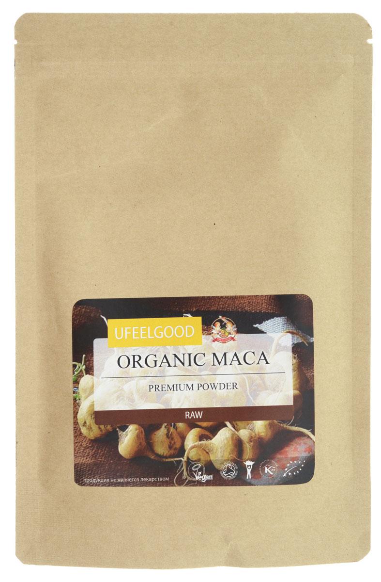UFEELGOOD Organic Maca Premium Powder органические плоды маки молотые, 150 г0120710Мака от UFEELGOOD повышает уровень энергии, и в центральном Перу крестьяне съедают до 500 граммов свежей маки в день, потому что она поддерживает их и даёт достаточно выносливости и силы для того, чтобы выполнять свою сельскохозяйственную деятельность.Мака обладает высоким содержанием минеральных веществ, в частности железа (15 мг/100 г), которое необходимо для выработки здоровых клеток крови, чтобы они были в состоянии переносить кислород по всему телу, и кальция (258 мг/100 г), который необходим для роста костей и особенно важен женщинам в период менопаузы, когда плотность костей может уменьшиться, что ведет к остеопорозу.Считается также, что мака может помочь стабилизировать и регулировать уровень гормонов и используется, чтобы облегчить симптомы ПМС и менопаузы у женщин. Сухой корень маки содержит высокие уровни белка — 10% ее сухого веса — в том числе 7 незаменимых аминокислот (те, которые организм не может производить сам, они должны быть приобретены с пищей). Высокое содержание аминокислот улучшает функции щитовидной железы.Мака также содержит простагландины – молекулы посредники, которые действуют как гормоны посредством физиологических эффектов в клетках, и растительные стерины, которые могут иметь эффекты афродизиака.Химический анализ также определил биологически активные ароматические изотиоцианатамы , которые вносят вклад в повышение потенции и репродуктивной функции.Корни маки на момент сбора имеют различный цвет. Исследования показали, что изменение цвета связано с изменением концентрации специфических метаболитов, изменяющих эффект действия корней маки различного цвета. Порошок маки UFEELGOOD сделан из желтого корня, который, как сообщается, содержит высокие концентрации бета-ситостерина и производится по самым высоким стандартам по тем же методам ведения сельского хозяйства , которые были использованы местными на протяжении поколений.Мака потреблялась в Перу в течение 