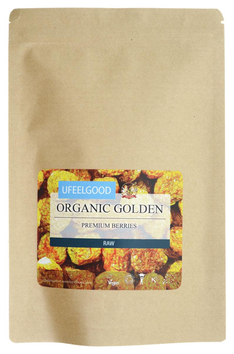 UFEELGOOD Organic Golden Premium Berries органические вяленые ягоды физалиса, 150 г ufeelgood organic flax golden seeds органические семена золотого льна 150 г