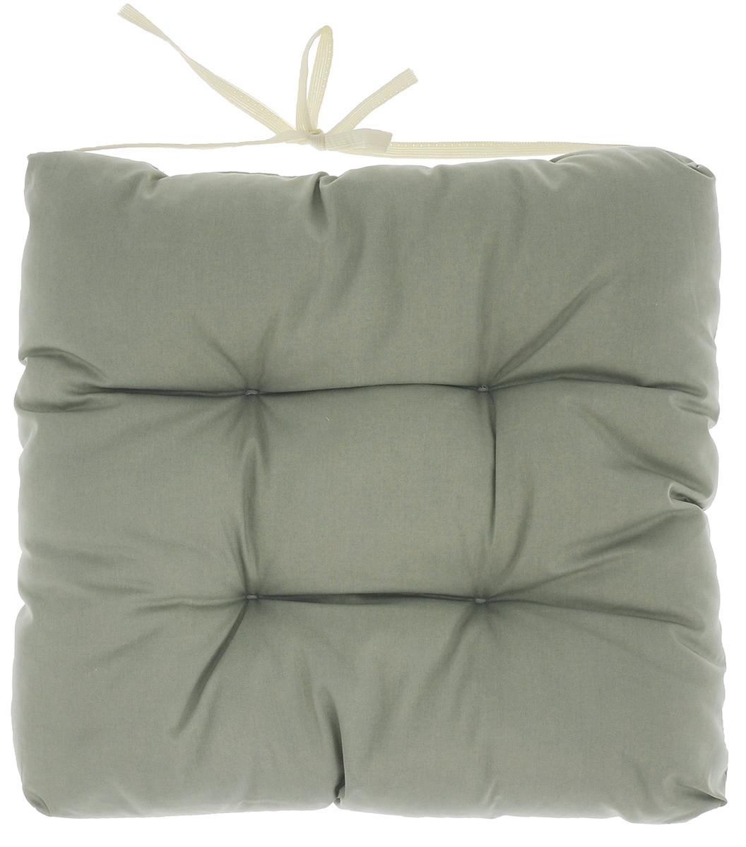 Подушка на стул Eva, объемная, цвет: серо-зеленый, 40 х 40 смVT-1520(SR)Подушка Eva, изготовленная из хлопка, прослужит вам не один десяток лет. Внутри - мягкий наполнитель из полиэстера. Стежка надежно удерживает наполнитель внутри и не позволяет ему скатываться. Подушка легко крепится на стул с помощью завязок. Правильно сидеть - значит сохранить здоровье на долгие годы. Жесткие сидения подвергают наше здоровье опасности. Подушка с наполнителем из полиэстера поможет предотвратить многие беды, которыми грозит сидячий образ жизни.