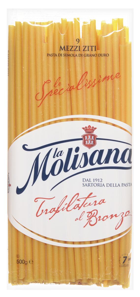 La Molisana Mezzi Ziti макароны, 500 г0120710Макароны La Molisana Mezzi Ziti сделаны из муки твердых сортов, содержащей чуть меньшее количество клейковины, чем обыкновенная мука. Она хорошо поглощает воду, макароны из нее при варке увеличиваются и не развариваются.