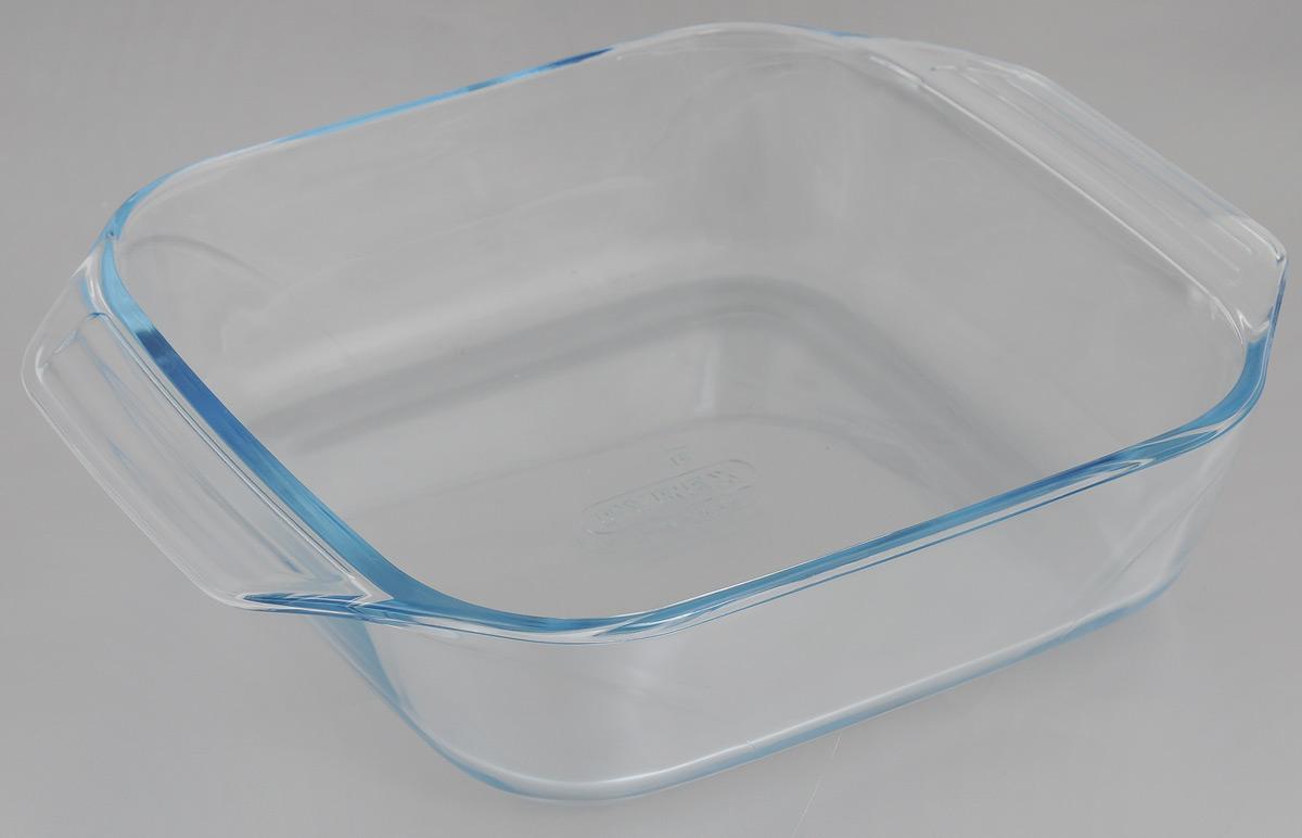 Форма для запекания Pyrex Optimum, 29 x 23 см54 009312Прямоугольная форма для запекания Pyrex Optimum изготовлена из жаропрочного стекла, которое выдерживает температуру до +300°С. Форма предназначена для выпечки и запекания. Оснащена двумя ручками. Материал изделия гигиеничен, прост в уходе и обладает высокой степенью прочности, стойкостью к царапинам, образованию пятен и впитыванию запахов. Форма идеально подходит для использования в духовках, микроволновых печах, холодильниках и морозильных камерах (до -40°С). Можно мыть в посудомоечной машине.Размер формы (с учетом ручек): 29 х 23 см.Внутренний размер формы: 22 х 22 см. Высота стенки: 7 см.