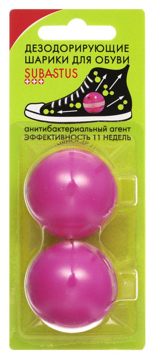 Дезодорирующие шарики Subastus для обуви, 2 штSatin Hair 7 BR730MNДезодорирующие шарики-капсулы Subastus устраняют бактерии благодаря бактерицидному агенту, который уничтожает микрофлору, вызывающую неприятный запах и придают обуви аромат свежести. Дезодорирующие шарики-капсулы для ног Subastus просты в использовании: просто откройте их и поместите на ночь в обувь. Шарики многоразового использования. Характеристики:Состав: бактерицидный агент Превентол, отдушка. Материал шарика:пластик. Диаметр шарика:3,5 см. Комплектация:2 шт. Производитель: Франция. Артикул:3144311550. Товар сертифицирован.