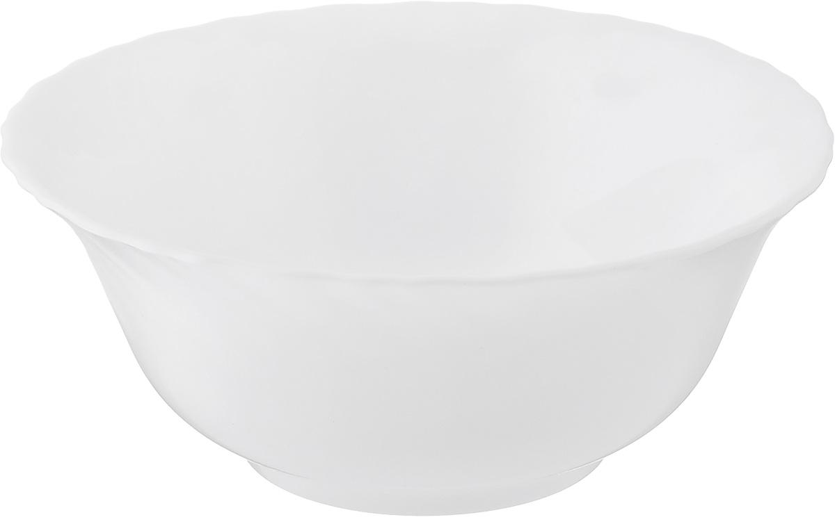 Салатник Luminarc Carine White, диаметр 12 см115510Великолепный круглый салатник Luminarc Carine White, изготовленный стекла, прекрасно подойдет для подачи различных блюд: закусок, салатов или фруктов. Такой салатник украсит ваш праздничный или обеденный стол, а оригинальное исполнение понравится любой хозяйке. Диаметр салатника (по верхнему краю): 12 см.