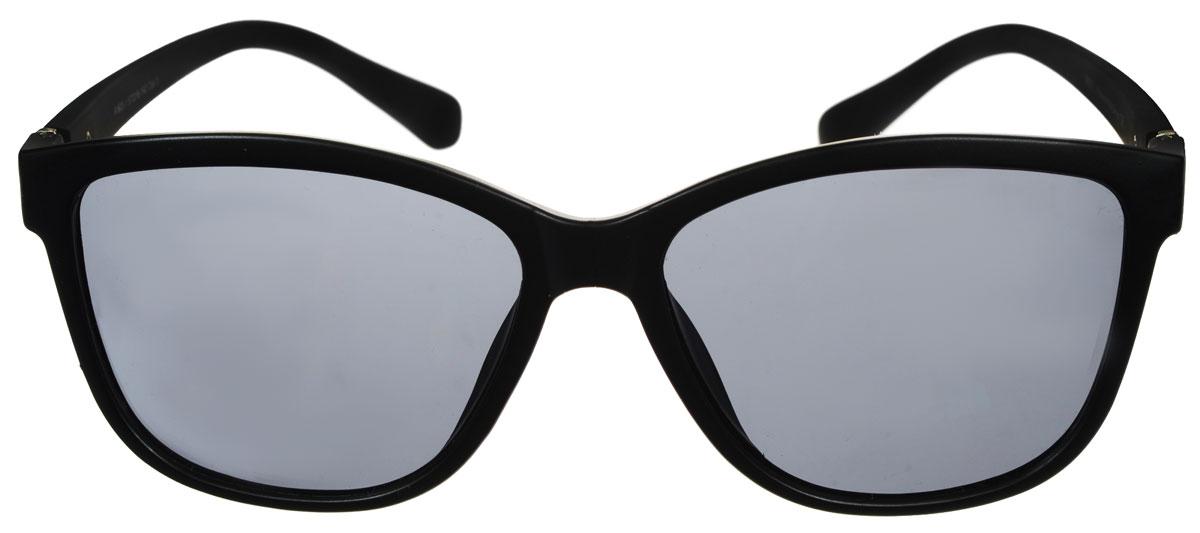 Очки солнцезащитные женские Fabretti, цвет: черный. A1603-1BM8434-58AEСолнцезащитные женские очки Fabretti выполнены с линзами из высококачественного пластика.Используемый пластик не искажает изображение, не подвержен нагреванию и вредному воздействию солнечных лучей, защищает от бликов, повышает контрастность и четкость изображения, снижает усталость глаз и обеспечивает отличную видимость. Линзы имеют степень затемнения Cat. 3.Пластиковая оправа очков легкая, прилегающей формы и поэтому не создает никакого дискомфорта.Такие очки защитят глаза от ультрафиолетовых лучей, подчеркнут вашу индивидуальность и сделают ваш образ завершенным.