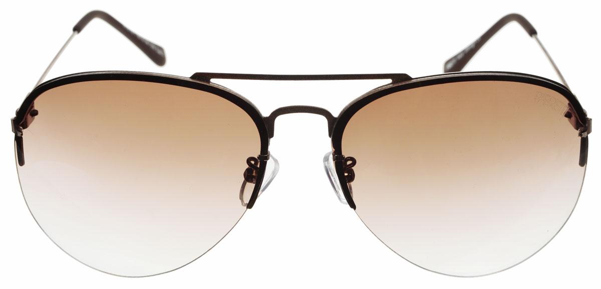 Очки солнцезащитные женские Fabretti, цвет: коричневый. A1613-1BM8434-58AEСолнцезащитные женские очки Fabretti выполнены с фотохромными линзами оригинальной формы из высококачественного пластика.Используемые линзы корригируют зрение (улучшают зрение до максимально достижимой с очками остроты зрения) и изменяют степень своего затемнения в зависимости от интенсивности солнечного света. Линзы имеют степень затемнения Cat. 2.Металлическая оправа с пластиковыми дужками легкая, прилегающей формы и поэтому не создает никакого дискомфорта.Такие очки защитят глаза от ультрафиолетовых лучей, подчеркнут вашу индивидуальность и сделают ваш образ завершенным.