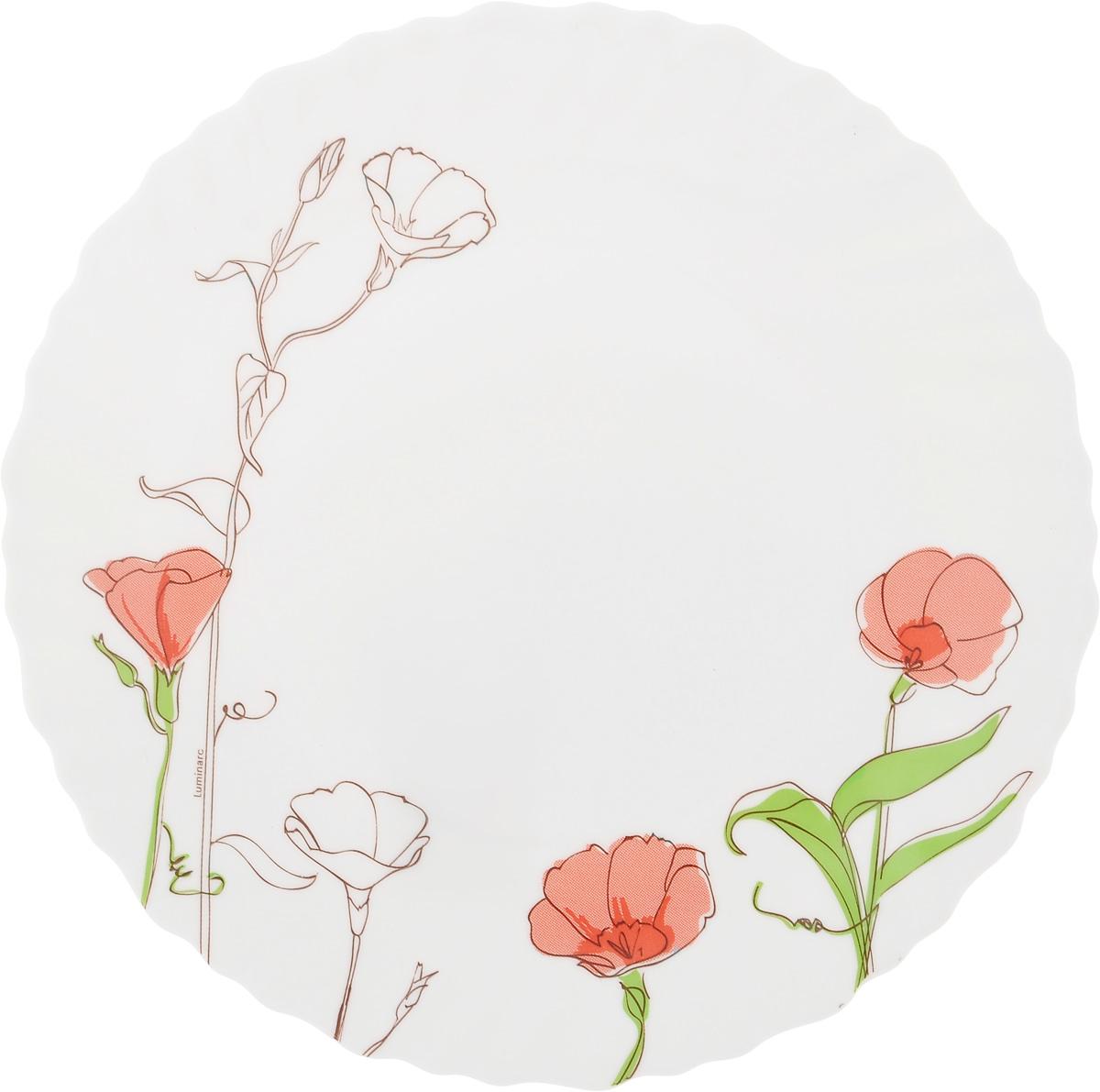 Тарелка десертная Luminarc Natasha, диаметр 19 смAPRARN12030Десертная тарелка Luminarc Natasha выполнена изударопрочного стекла и оформлена цветочным рисунком.Изделие сочетает в себе изысканный дизайн с максимальнойфункциональностью. Она прекрасно впишется винтерьер вашей кухни и станет достойным дополнениемк кухонному инвентарю. Тарелка Luminarc Natasha подчеркнет прекрасный вкус хозяйкии станет отличным подарком. Диаметр (по верхнему краю): 19 см.