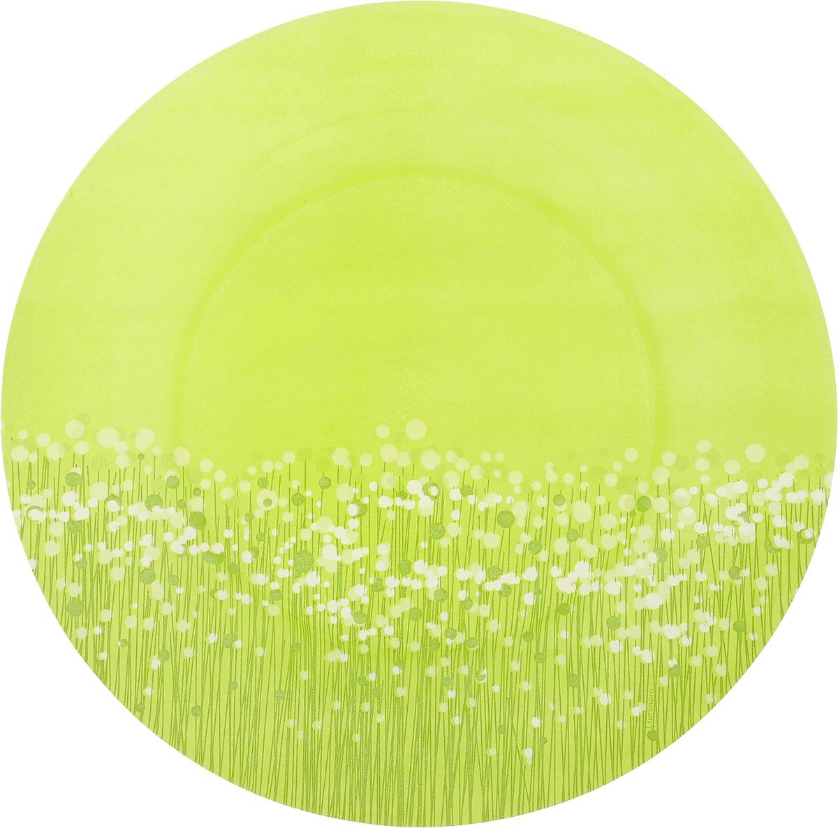Тарелка обеденная Luminarc FlowerFields Anis, цвет: светло-зеленый, диаметр 25 см54 009312Обеденная тарелка Luminarc FlowerFields Anis, изготовленная из ударопрочного стекла, имеет изысканный внешний вид. Она идеально подойдет для сервировки вторых блюд из птицы, рыбы, мяса или овощей.Обеденная тарелка Luminarc FlowerFields Anis станет отличным подарком к любому празднику.Диаметр тарелки (по верхнему краю): 25 см.Высота тарелки: 2,5 см.