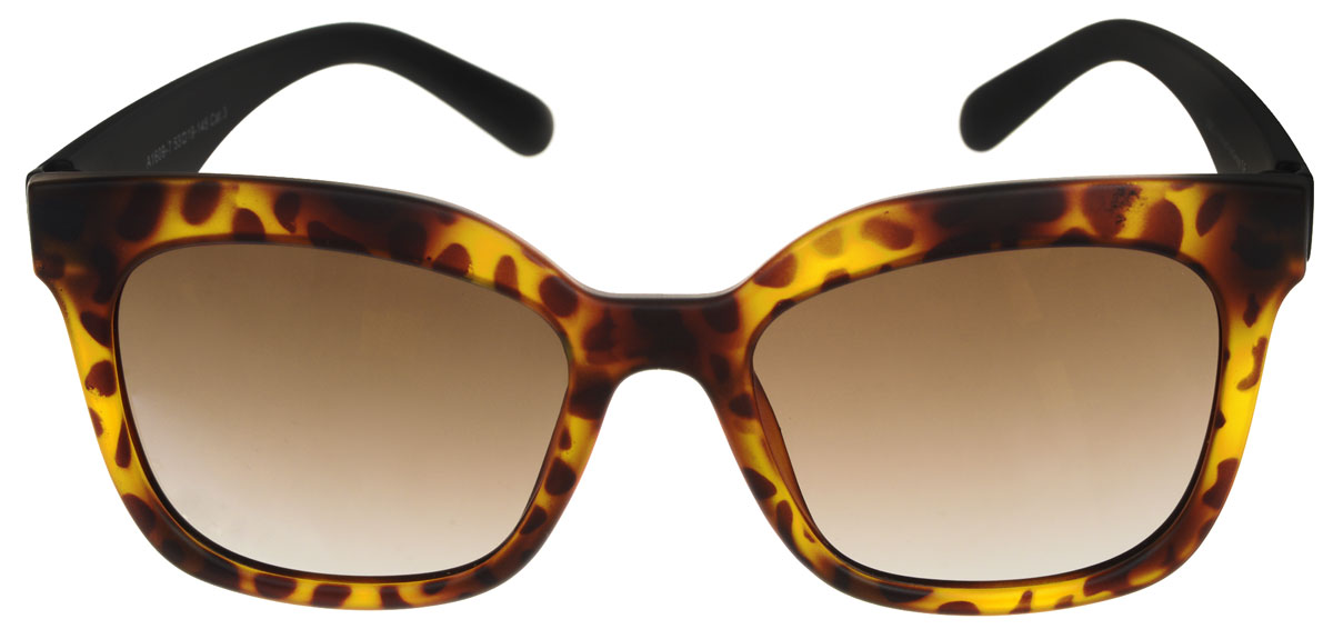 Очки солнцезащитные женские Fabretti, цвет: черный, коричневый. A1609-7INT-06501Солнцезащитные мужские очки Fabretti выполнены с линзами из высококачественного пластика.Используемый пластик не искажает изображение, не подвержен нагреванию и вредному воздействию солнечных лучей, защищает от бликов, повышает контрастность и четкость изображения, снижает усталость глаз и обеспечивает отличную видимость. Линзы имеют степень затемнения Cat. 3.Пластиковая оправа очков выполнена в черно-коричневой гамме, с ненавязчивым оригинальным рисунком. Оправа легкая, прилегающей формы и поэтому не создает никакого дискомфорта.Такие очки защитят глаза от ультрафиолетовых лучей, подчеркнут вашу индивидуальность и сделают ваш образ завершенным.