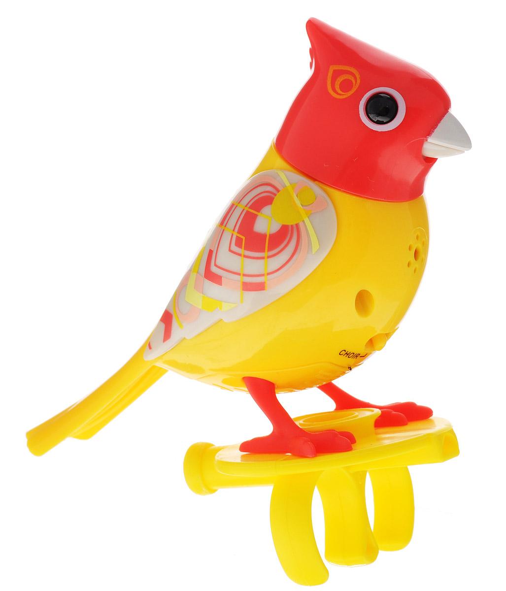 DigiFriends Интерактивная игрушка Птичка с кольцом цвет желтый оранжевый серый