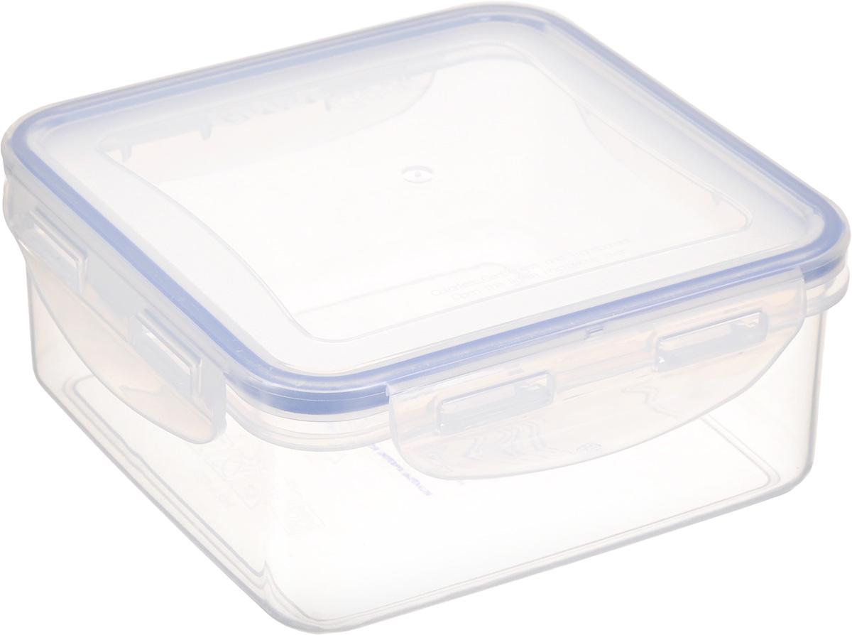 Контейнер для пищевых продуктов Good&Good, 900 млS2-1Квадратный контейнер Good&Good изготовлен из высококачественного полипропилена и предназначен для хранения любых пищевых продуктов. Благодаря особым технологиям изготовления, лотки в течение времени службы не меняют цвет и не пропитываются запахами. Крышка с силиконовой вставкой герметично защелкивается специальным механизмом. Контейнер Good&Good удобен для ежедневного использования в быту.Можно мыть в посудомоечной машине и использовать в СВЧ.Размер контейнера (с учетом крышки): 15 х 15 х 6,7 см.