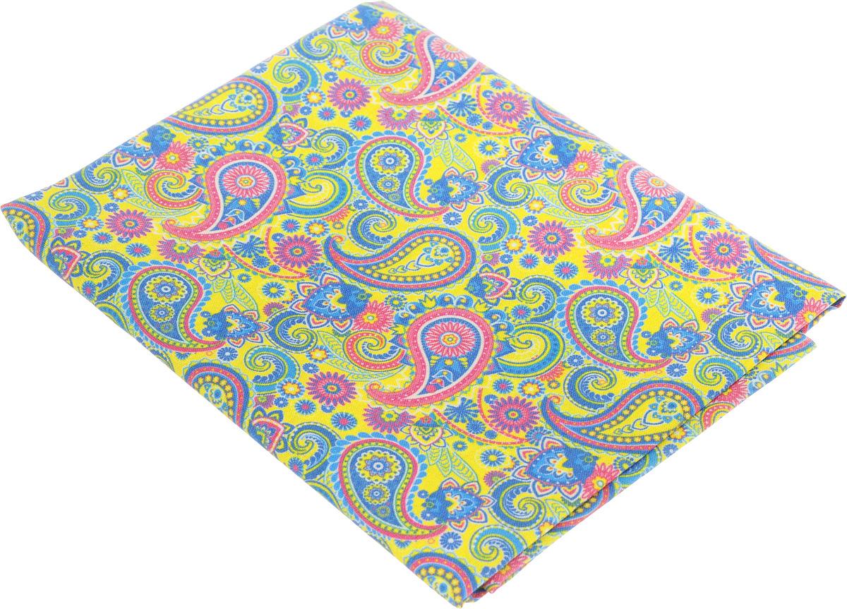 Ткань для пэчворка Артмикс Пейсли, цвет: желтый, синий, розовый, 48 х 50 см09840-20.000.00Ткань Артмикс Пейсли, изготовленная из 100% хлопка, предназначена для пошива одеял, покрывал, сумок, аппликаций и прочих изделий в технике пэчворк. Также подходит для пошива кукол, аксессуаров и одежды.Пэчворк - это вид рукоделия, при котором по принципу мозаики сшивается цельное изделие из кусочков ткани (лоскутков). Плотность ткани: 120 г/м2.УВАЖАЕМЫЕ КЛИЕНТЫ!Обращаем ваше внимание, на тот факт, что размер отреза может отличаться на 1-2 см.
