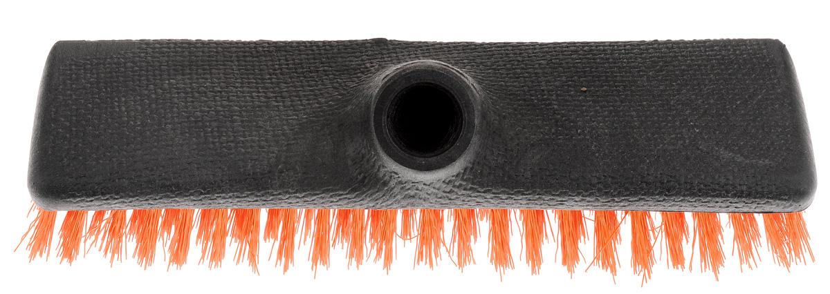 Щетка-скраббер York Twigi, без ручки, цвет: оранжевыйK100Щетка-скраббер York Twigi выполнена из высококачественного пластика. Короткий и жесткий ворс идеален для уборки мусора на улице. Универсальная резьба подходит ко всем видам ручек. Ширина щетки: 23,5 см. Высота ворса: 2,5 см. Диметр резьбы под ручку: 2,2 см.