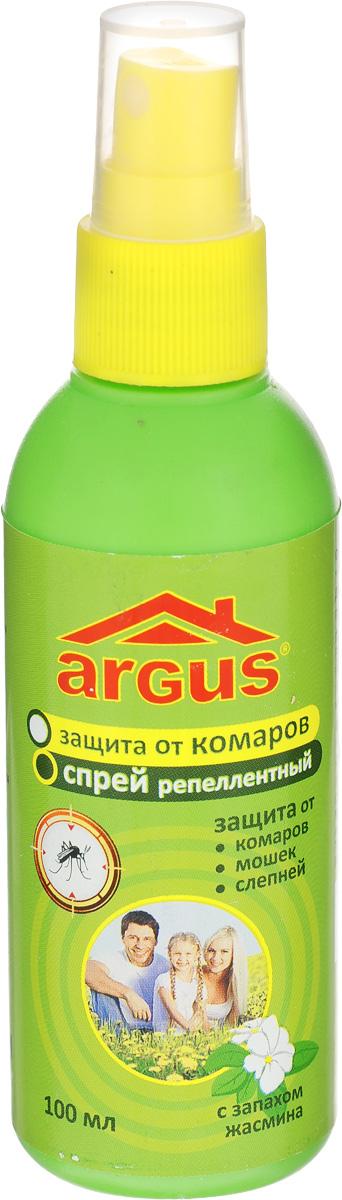 Спрей репеллентный от комаров Argus, 100 млBH-SI0439-WWРепеллентный спрей Argus применяется для защиты людей от нападения кровососущих насекомых (комаров, мокрецов, москитов, слепней). Наносится на открытые части тела. Изделие оснащено удобным распылителем.Состав: N,N-диэтил-м-толуамид (ДЭТА) 18%, отдушка, спирт изопропиловый.