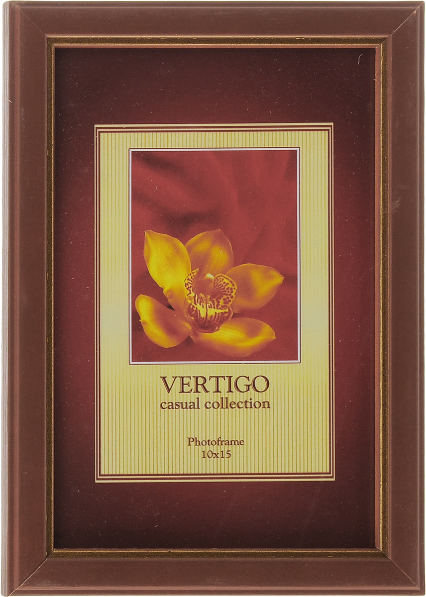 Фоторамка Vertigo Argona, 10 x 15 см. WF-11176285 005G_тем. коричневыйФоторамка Vertigo Argona выполнена в классическом стиле из дерева и стекла, защищающего фотографию. Оборотная сторона рамки оснащена специальной ножкой, благодаря которой ее можно поставить на стол или любое другое место в доме или офисе. Также на изделии имеются два специальных отверстия для подвешивания. Такая фоторамка поможет вам оригинально и стильно дополнить интерьер помещения, а также позволит сохранить память о дорогих вам людях и интересных событиях вашей жизни.