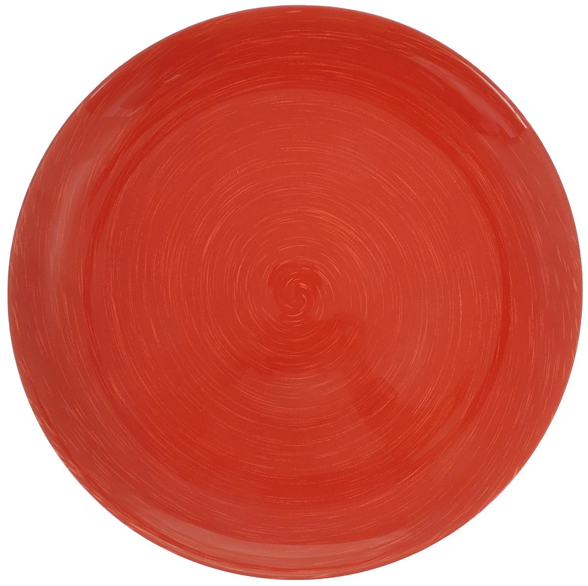 Тарелка Luminarc Stonemania, цвет: красный, белый, диаметр 25 смH3670Тарелка Luminarc Stonemania, изготовленная из ударопрочного стекла. Такая тарелка прекрасно подходит как для торжественных случаев, так и для повседневного использования. Идеальна для подачи десертов, пирожных, тортов и многого другого. Она прекрасно оформит стол и станет отличным дополнением к вашей коллекции кухонной посуды. Диаметр тарелки (по верхнему краю): 25 см. Высота тарелки: 2,2 см.
