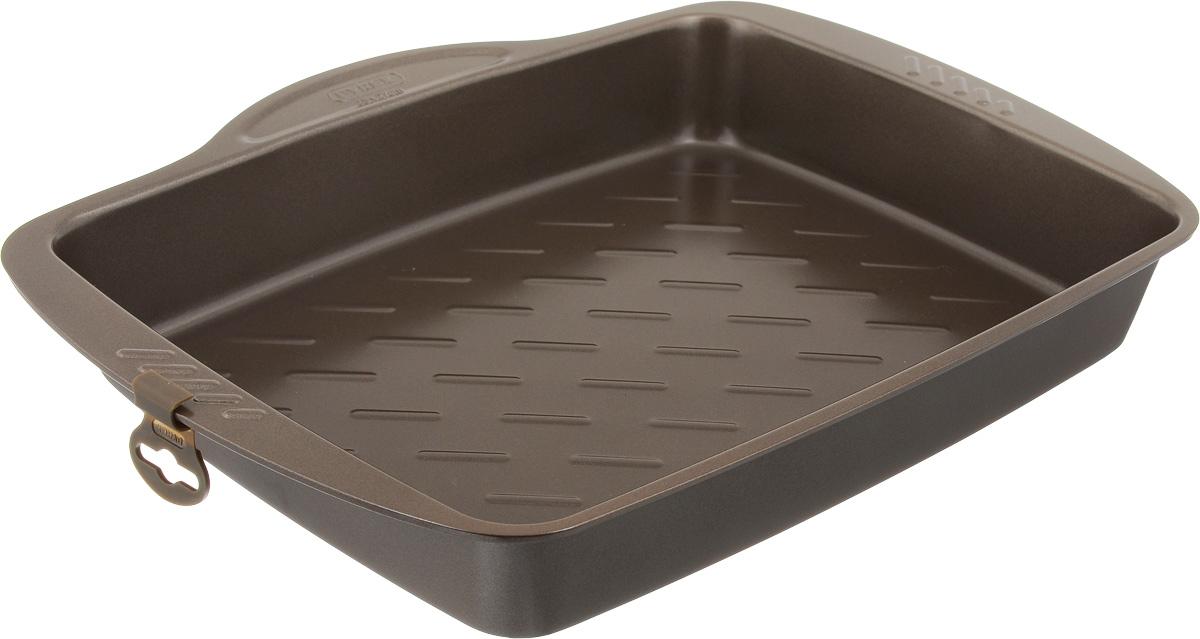 Форма для запекания Pyrex Metal Asimetria, с антипригарным покрытием, 35 х 27 см54 009312Форма для запекания Pyrex Metal Asimetria изготовлена из углеродистой стали с антипригарным покрытием. Изделие не содержит примесей PFOA, а также кадмия и свинца, поэтому абсолютно безопасно для использования. Форма снабжена удобными ручками. Пища в такой форме не пригорает и не прилипает к стенкам. Форма станет полезным приобретением для вашей кухни и сделает приготовление любимых блюд намного проще. Можно мыть в посудомоечной машине и использовать в духовке при температуре до 230°С. Внутренний размер формы: 35 х 27 см. Размер формы (с учетом ручек): 40 х 31 см. Высота стенки: 5,5 см.