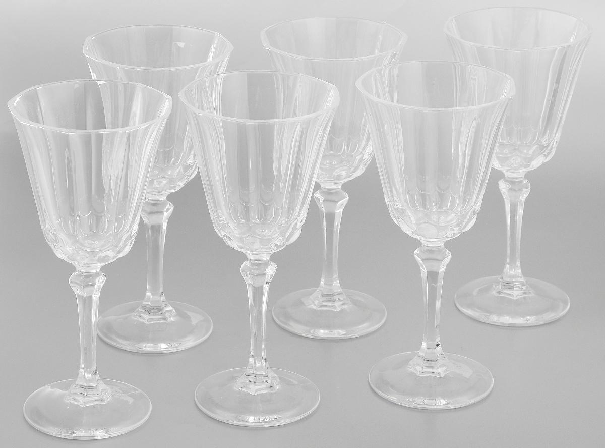 Набор фужеров Cristal dArques Allure, 250 мл, 6 штVT-1520(SR)Набор Cristal dArques Allure состоит из шести фужеров, выполненных из прочного стекла. Изделия оснащены высокими ножками и предназначены для подачи различных напитков. Они сочетают в себе элегантный дизайн и функциональность. Благодаря такому набору пить напитки будет еще вкуснее.Набор фужеров Cristal dArques Allure прекрасно оформит праздничный стол и создаст приятную атмосферу за романтическим ужином. Такой набор также станет хорошим подарком к любому случаю. Можно мыть в посудомоечной машине.Диаметр фужера (по верхнему краю): 8,8 см. Диаметр основания: 7 см.Высота фужера: 18,5 см.