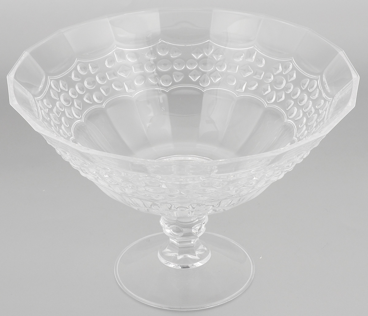 Салатник Cristal dArques Allure, диаметр 25,5 см115510Салатник Cristal dArques Allure изготовлен из из специально разработанного стекла Diamax в форме большойчаши на ножке, декорирован рельефом. Данный салатник сочетает в себе изысканный дизайн с максимальной функциональностью. Он прекрасно впишется в интерьер вашей кухни и станет достойным дополнением к кухонному инвентарю. Такой салатник не только украсит ваш кухонный стол и подчеркнет прекрасный вкусхозяйки, но и станет отличным подарком.Диаметр (по верхнему краю): 25,5 см.Высота: 17 см.Диаметр основания: 11 см.