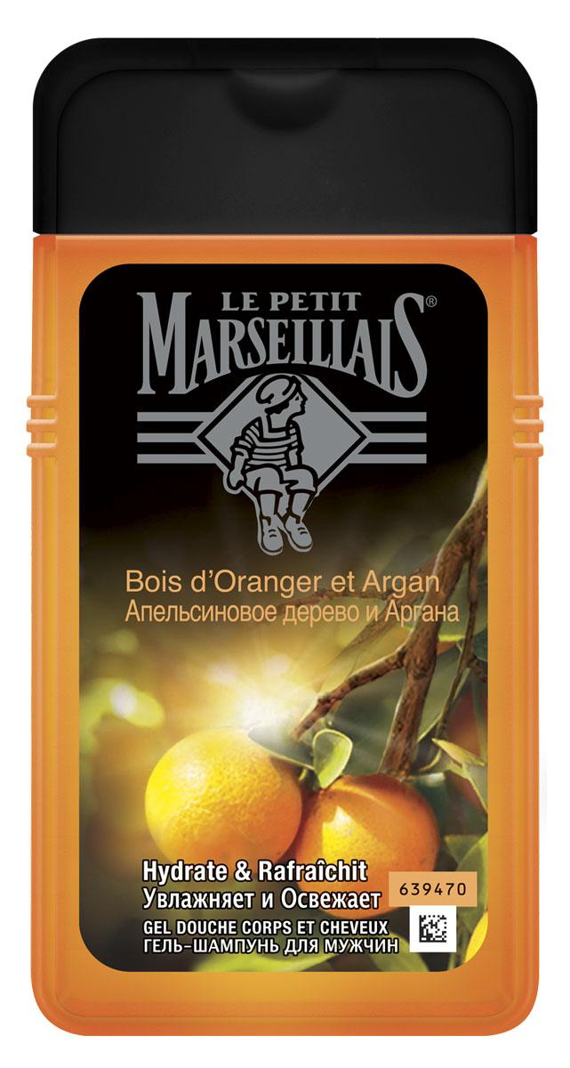 Le Petit Marseillais Гель-шампунь Апельсиновое дерево и аргана, мужской, 250 мл72523WDПод ослепительным солнцем Средиземноморья растут апельсиновые деревья с характернымгорьковатым ароматом. Орехи арганы содержат редкое и ценное масло золотистого оттенка.Этот гель-шампунь укрепляет волосы и увлажняет кожу.Нейтральный для кожи pH / Протестировано дерматологами / Моющая основа растительногопроисхождения*.*ингредиенты моющей основы легко распадаются на компоненты