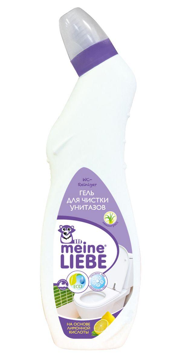 Гель для чистки унитазов Meine Liebe, лимон, 750 мл68/5/1Гель для чистки унитазов Meine Liebe на основе лимонной кислоты: - эффективно удаляет загрязнения и обеспечивает сияющую чистоту; - борется с неприятными запахами, оставляя свежий аромат лемонграсса; - не содержит хлор и абразивы, благодаря чему, не повреждает поверхность; - удаляет известковый налет, ржавчину и мочевой камень; - препятствует размножению бактерий.Рекомендуется использовать перчатки и тщательно мыть руки после работы.Состав: деминерализованная вода, <5% неионогенные ПАВ, минеральные кислоты, лимонная кислота, ароматизатор, цитроннеллол, линалоол, лимонен, краситель.