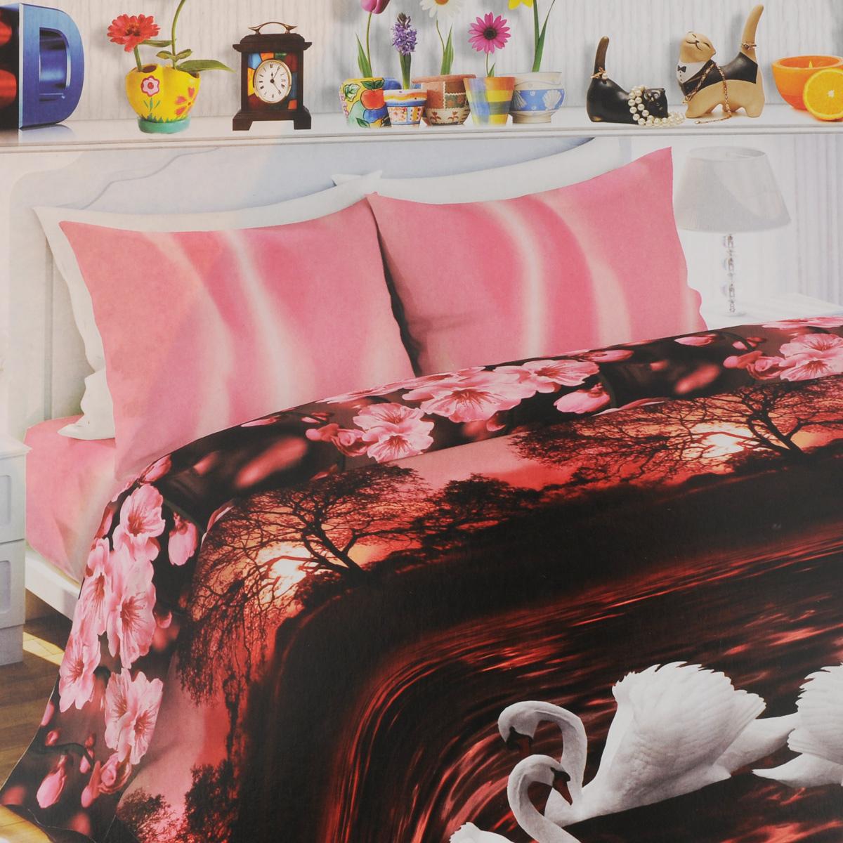 Комплект белья Любимый дом Лебединая верность, 1,5-спальный, наволочки 70х70, цвет: черно-розовый, белыйSC-FD421005Комплект постельного белья Любимый дом Лебединая верность состоит из пододеяльника, простыни и двух наволочек. Постельное белье оформлено оригинальным рисунком и имеет изысканный внешний вид. Белье изготовлено из новой ткани Биокомфорт, отвечающей всем необходимым нормативным стандартам. Биокомфорт - это тканьполотняного переплетения, из экологически чистого и натурального 100% хлопка. Неоспоримым плюсом белья из такой ткани является мягкостьи легкость, она прекрасно пропускает воздух, приятна на ощупь, не образует катышков на поверхности и за ней легко ухаживать. При соблюдениирекомендаций по уходу, это белье выдерживает много стирок, не линяети не теряет свою первоначальную прочность. Уникальная ткань обеспечивает легкую глажку.Приобретая комплект постельного белья Любимый дом Лебединая верность, вы можете быть уверены в том, что покупка доставит вам ивашим близким удовольствие и подарит максимальный комфорт.