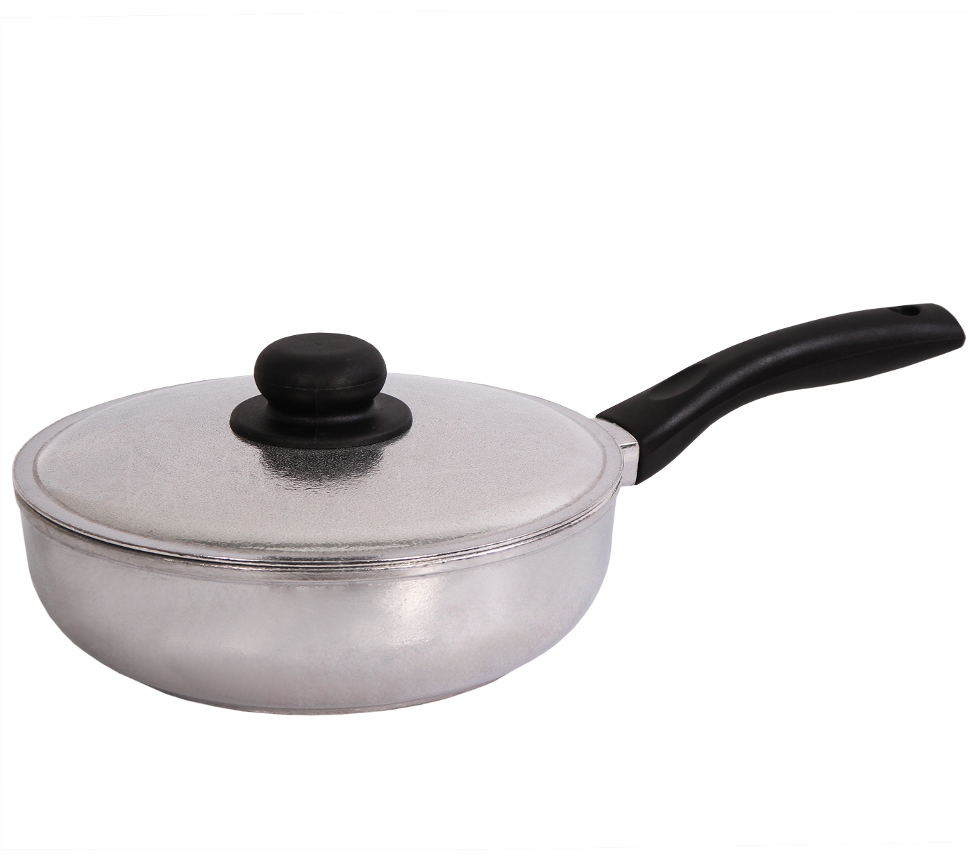Сковорода Биол с крышкой. Диаметр 26 см. 2609К54 009312Сковорода Биол выполнена из литого алюминия с утолщенным дном. Изделие оснащено удобной бакелитовой ручкой и крышкой. Посуда равномерно распределяет тепло и обладает высокой устойчивостью к деформации, легкая и практичная в эксплуатации. Подходит для использования на электрических, газовых и стеклокерамических плитах. Не подходит для индукционных плит. Можно мыть в посудомоечной машине.Диаметр сковороды (по верхнему краю): 26 см. Высота стенки сковороды: 8 см. Длина ручки: 17,5 см.