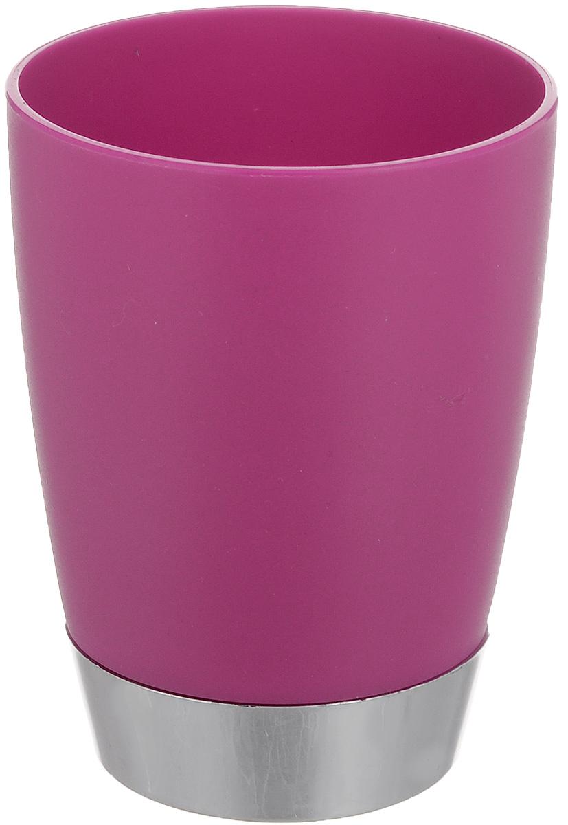 Стакан для ванной комнаты Fresh Code Настроение, цвет: малиновый, 300 млRG-D31SСтакан для ванной комнаты Fresh Code Настроение изготовлен из высококачественного полипропилена. В нем удобно хранить зубные щетки, тюбики с зубной пастой и другие принадлежности. Такой аксессуар для ванной комнаты стильно украсит интерьер, а также добавит в обычную обстановку яркие и модные акценты.Диаметр стакана (по верхнему краю): 8 см.Высота стакана: 10 см.