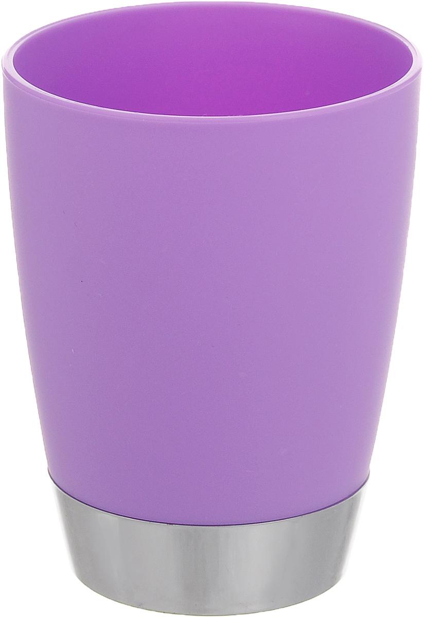 Стакан для ванной комнаты Fresh Code Настроение, цвет: сиреневый, 300 мл391602Стакан для ванной комнаты Fresh Code Настроение изготовлен из высококачественного полипропилена. В нем удобно хранить зубные щетки, тюбики с зубной пастой и другие принадлежности. Такой аксессуар для ванной комнаты стильно украсит интерьер, а также добавит в обычную обстановку яркие и модные акценты.Диаметр стакана (по верхнему краю): 8 см.Высота стакана: 10 см.