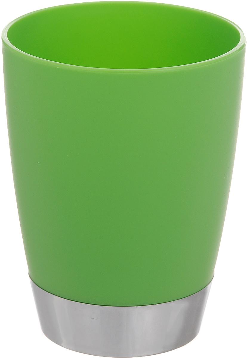 Стакан для ванной комнаты Fresh Code Настроение, цвет: зеленый, 300 млRG-D31SСтакан для ванной комнаты Fresh Code Настроение изготовлен из высококачественного полипропилена. В нем удобно хранить зубные щетки, тюбики с зубной пастой и другие принадлежности. Такой аксессуар для ванной комнаты стильно украсит интерьер, а также добавит в обычную обстановку яркие и модные акценты.Диаметр стакана (по верхнему краю): 8 см.Высота стакана: 10 см.