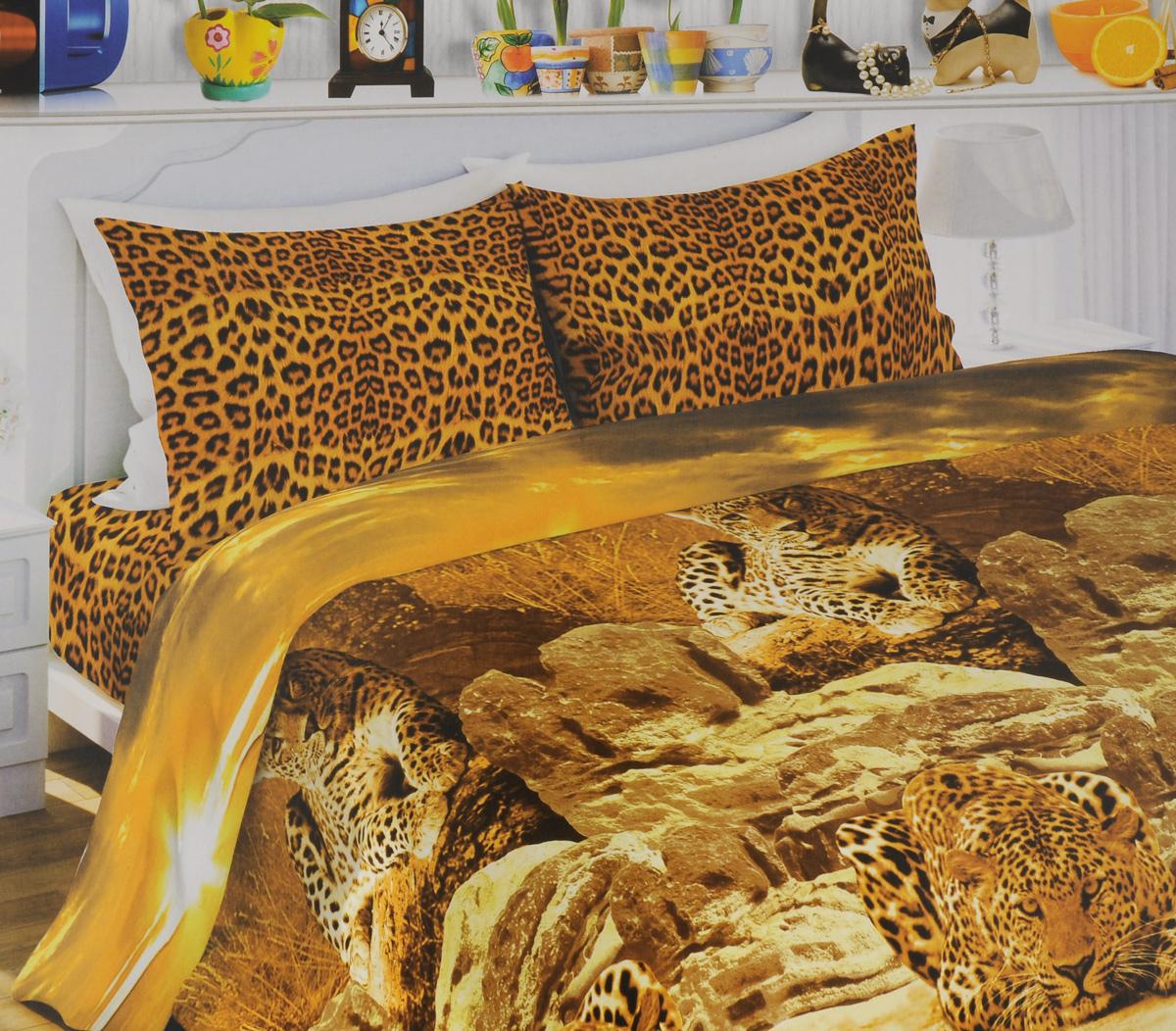 Комплект белья Любимый дом Африканский леопард, 1,5-спальный, наволочки 70х70, цвет: коричневый, оранжевый, бежевый333473Комплект постельного белья Любимый дом Африканский леопард состоит из пододеяльника, простыни и двух наволочек. Постельное белье оформлено оригинальным рисунком и имеет изысканный внешний вид. Белье изготовлено из новой ткани Биокомфорт, отвечающей всем необходимым нормативным стандартам. Биокомфорт - это тканьполотняного переплетения, из экологически чистого и натурального 100% хлопка. Неоспоримым плюсом белья из такой ткани является мягкостьи легкость, она прекрасно пропускает воздух, приятна на ощупь, не образует катышков на поверхности и за ней легко ухаживать. При соблюдениирекомендаций по уходу, это белье выдерживает много стирок, не линяети не теряет свою первоначальную прочность. Уникальная ткань обеспечивает легкую глажку.Приобретая комплект постельного белья Любимый дом Африканский леопард, вы можете быть уверены в том, что покупка доставит вам ивашим близким удовольствие и подарит максимальный комфорт.