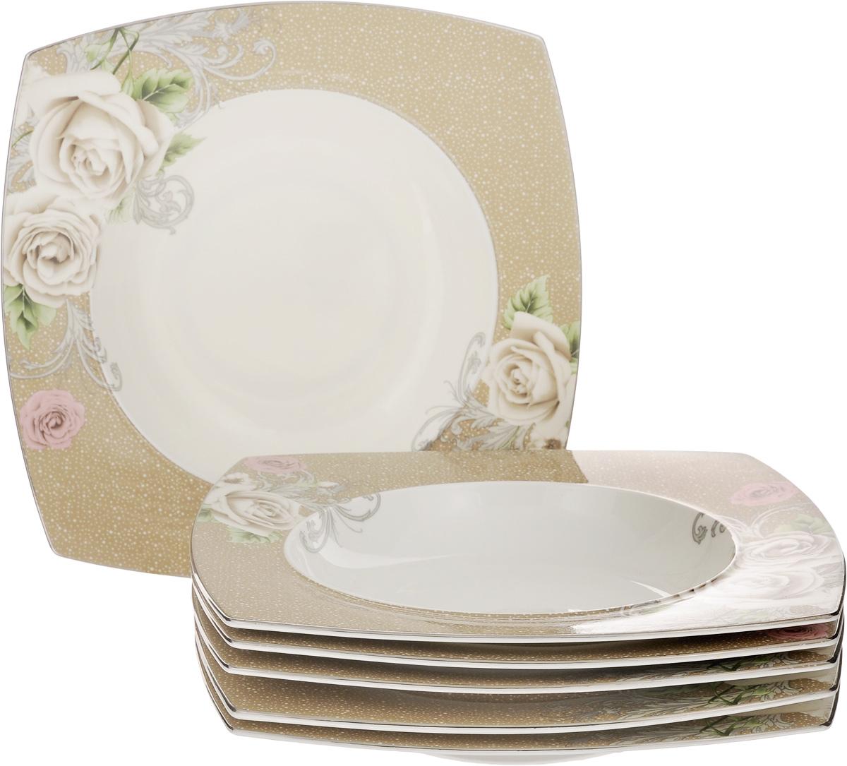 Набор тарелок Family & Friends Florance, 25 х 25 см, 6 шт54 009312Набор Family & Friends Florance, выполненный из фарфора, состоит из 6 глубоких квадратных тарелок и предназначен для красивой сервировки различных блюд.Изделия украшены цветочным рисунком. Набор сочетает в себе стильный дизайн с максимальнойфункциональностью. Оригинальность оформления придется по вкусу и ценителям классики, и тем, кто предпочитаетутонченность и изящность.Внутренний диаметр тарелки: 17,5 см. Размер тарелки: 25 х 25 х 4 см.
