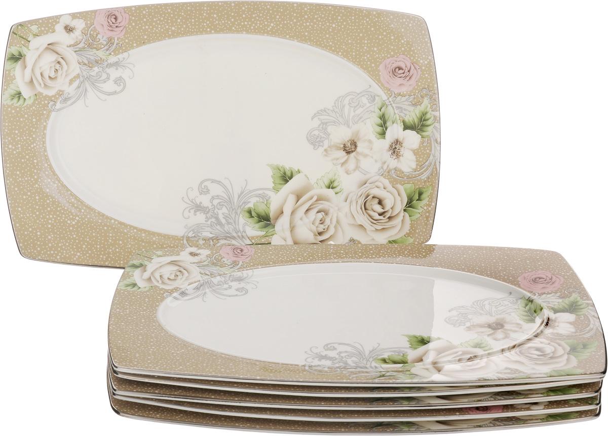 Набор блюд для нарезки Family & Friends Florance, 25 x 15,5 см, 6 шт740103Набор Family & Friends Florance, выполненный из фарфора, состоит из 6 плоских прямоугольных блюд, предназначенных для красивой сервировки различных нарезок. Изделия украшены цветочным рисунком. Такое блюдо украсит сервировку вашего стола и подчеркнет прекрасный вкусхозяйки. Внутренний размер блюда: 11 х 20 см. Размер блюда: 25 х 15,5 х 1 см.
