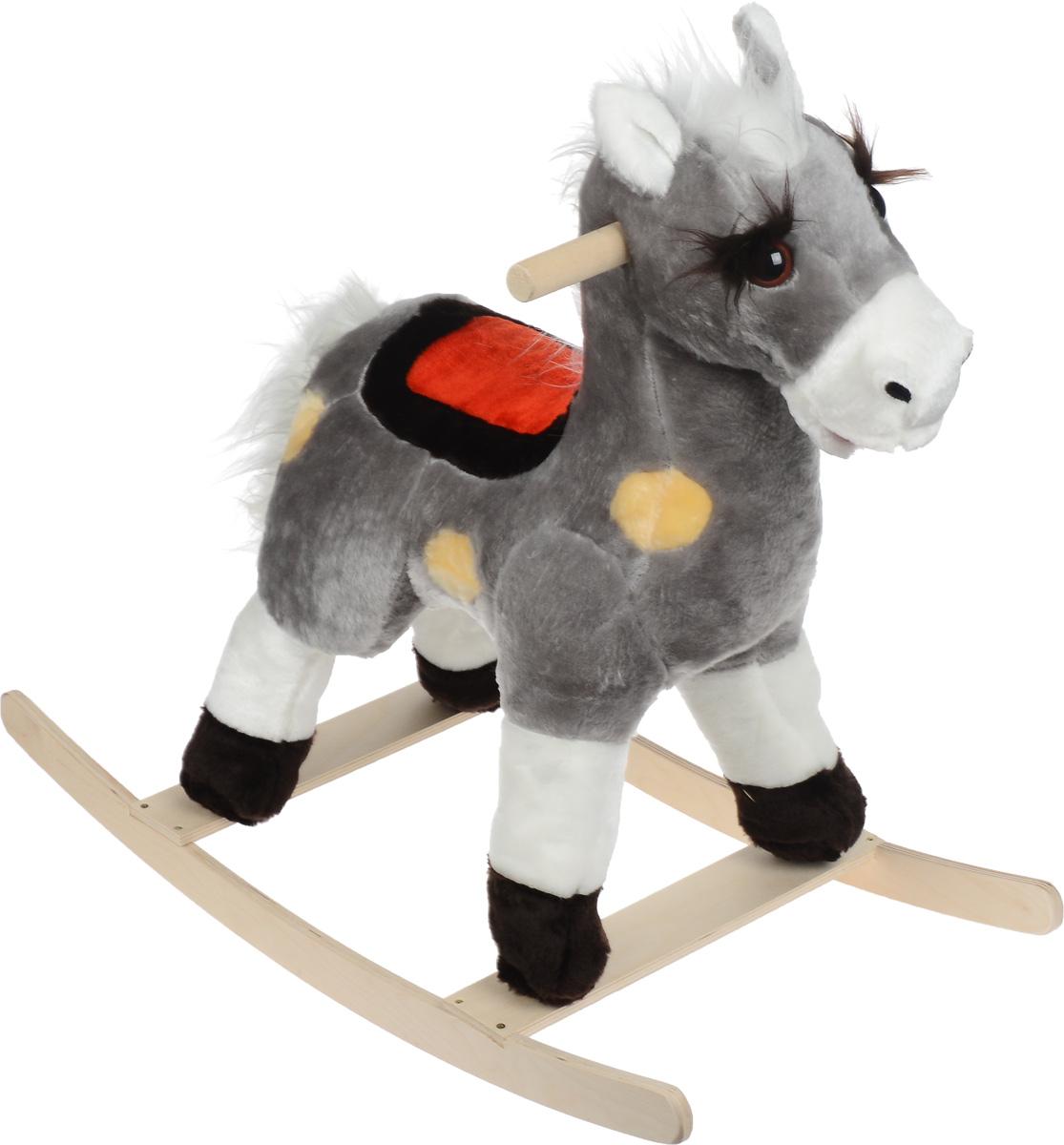 СмолТойс Игрушка-качалка Лошадь цвет серый -  Качалки