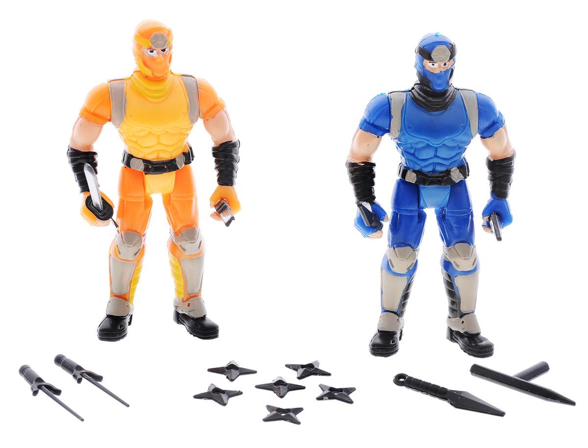 Manley Фигурки Ninja Battle цвет желтый синий manley toys кошка