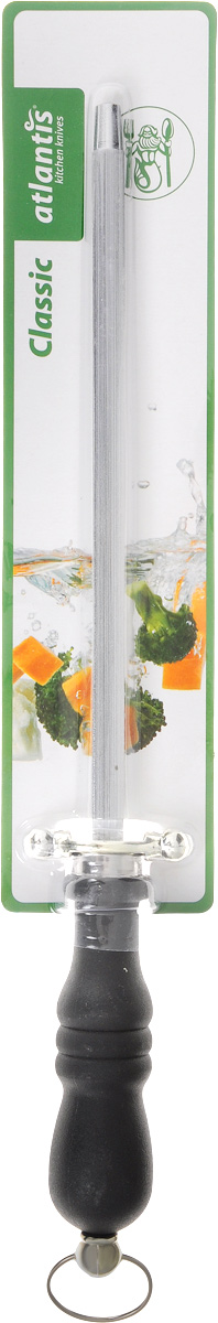 Мусат Atlantis Classic, 32 см391602Мусат для ножей Atlantis Classic изготовлен из нержавеющей стали. Мусат с удобной эргономичной пластиковой ручкой, с особой формой режущей кромки и специальной заточкой лезвия будет долгожданным дополнением к любой кухне. У профессионалов мусат пользуется большим уважением и спросом. Опытные повара правят ножи по принципу нож об нож, выправляя завернувшуюся или притупившуюся режущую кромку одного ножа об одно из ребер другого. Мусат же является неким собранием таких ребер на одном прутке.Длина прутка: 20 см.Длина ручки: 12 см.