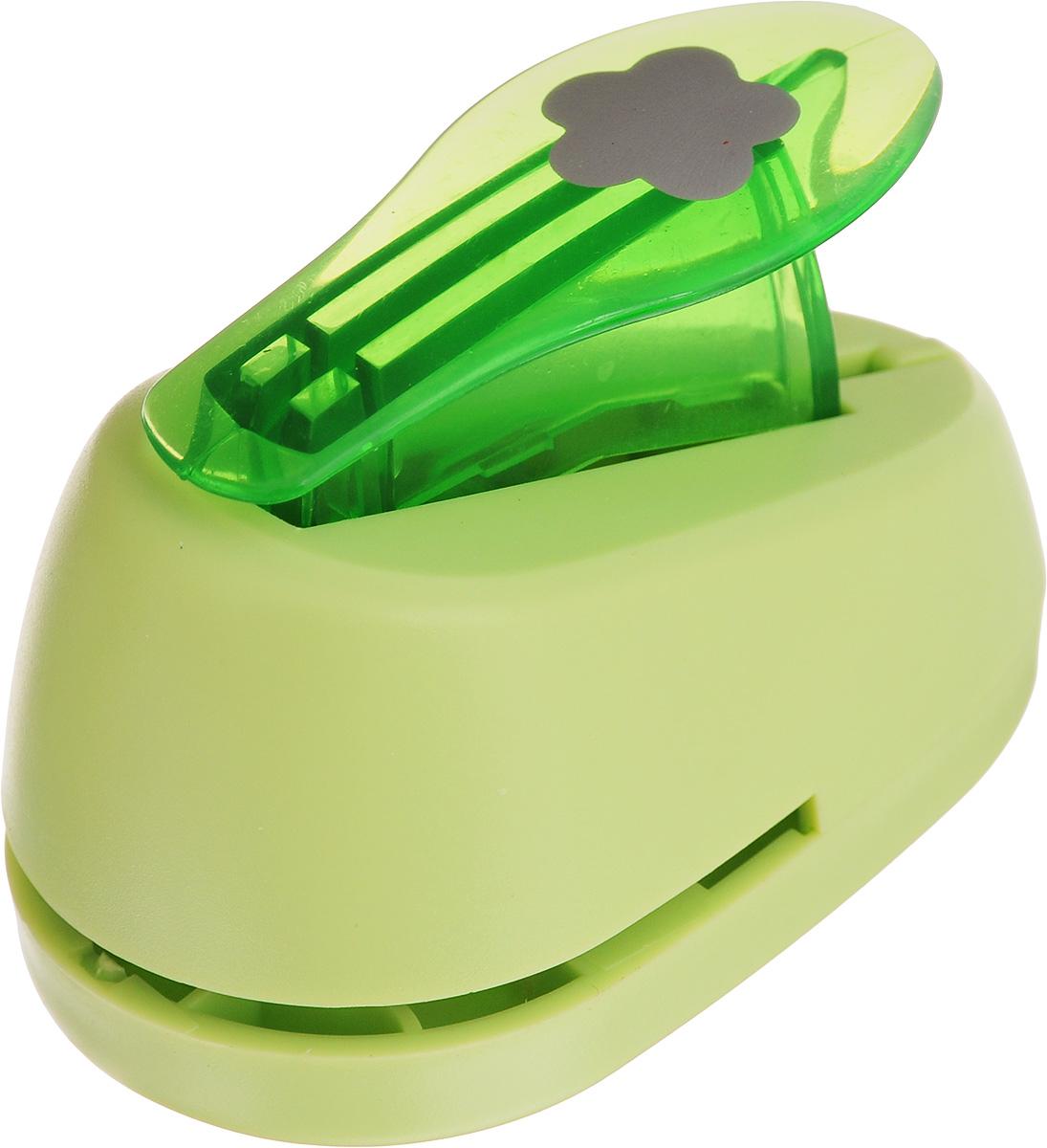 Дырокол фигурный Hobbyboom 5 лепестков, №93, цвет: салатовый, 1,8 смAC-2233_серыйДырокол фигурный Hobbyboom 5 лепестков, выполненный из прочного пластика и металла, используется в скрапбукинге для украшения открыток, карточек, коробочек и прочего.Применяется для прорезания фигурных отверстий в бумаге в форме цветка. Вырезанный элемент также можно использовать для украшения.Предназначен для бумаги плотностью от 80 до 200 г/м2. Размер дырокола: 7 х 4 х 4,5 см.Размер готовой фигурки: 1,8 х 1,8 см.