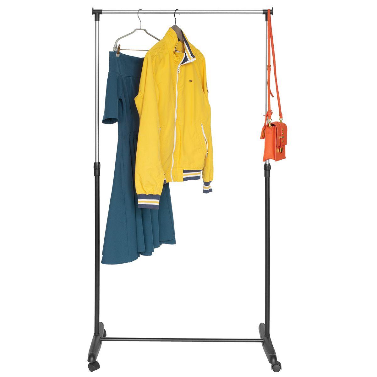Стойка для одежды Мобильная Artmoon Sam, цвет: черный хромS03301004Artmoon SAM Мобильная стойка для одежды, размер: 81x40x90 -160(В) см, окрашенная сталь, колеса обеспечивают мобильность.