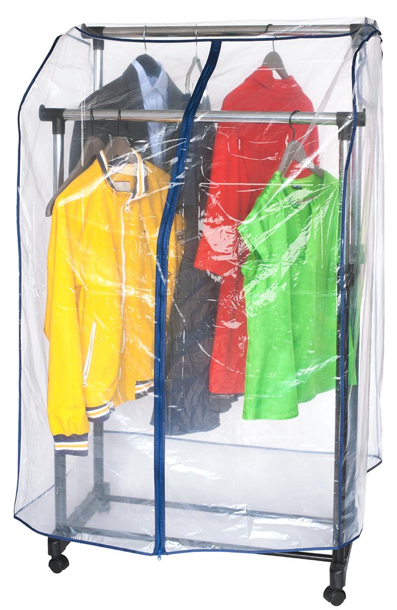 Чехол на стойку для одежды Artmoon Anti Duster, 96 х 60 х 150 смES-412Чехол на стойку Artmoon Anti Duster выполнен из высококачественного полиэтилена. Он обеспечивает вашей одежде надежную защиту от влажности, повреждений, грязи и от запыления при хранении. Изделие обладает водоотталкивающими свойствами, не мнется, не имеет запаха. Закрывается на удобную молнию. Подходит для одинарных и двойных стоек.