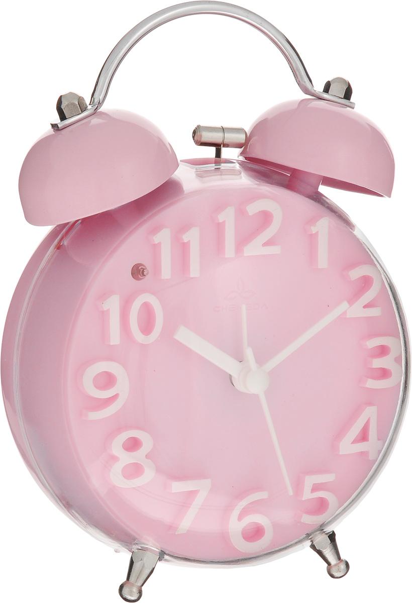 Часы-будильник Sima-land, цвет: розовый. 911447FA-2421-5 BlackКак же сложно иногда вставать вовремя! Всегда так хочется поспать еще хотя бы 5 минут и бывает, что мы просыпаем. Теперь этого не случится! Яркий, оригинальный будильник Sima-land поможет вам всегда вставать в нужное время и успевать везде и всюду.Корпус будильника выполнен из пластика. Циферблат имеет индикацию белыми арабскими цифрами. Часы снабжены 4 стрелками (секундная, минутная, часовая и для будильника). На задней панели будильника расположена кнопка включения/выключения механизма, а также два колесика для настройки текущего времени и времени звонка будильника. Также будильник оснащен кнопкой, при нажатии которой подсвечивается циферблат.Пользоваться будильником очень легко: нужно всего лишь поставить батарейку, настроить точное время и установить время звонка. Необходимо докупить 1 батарейку типа АА (не входит в комплект).