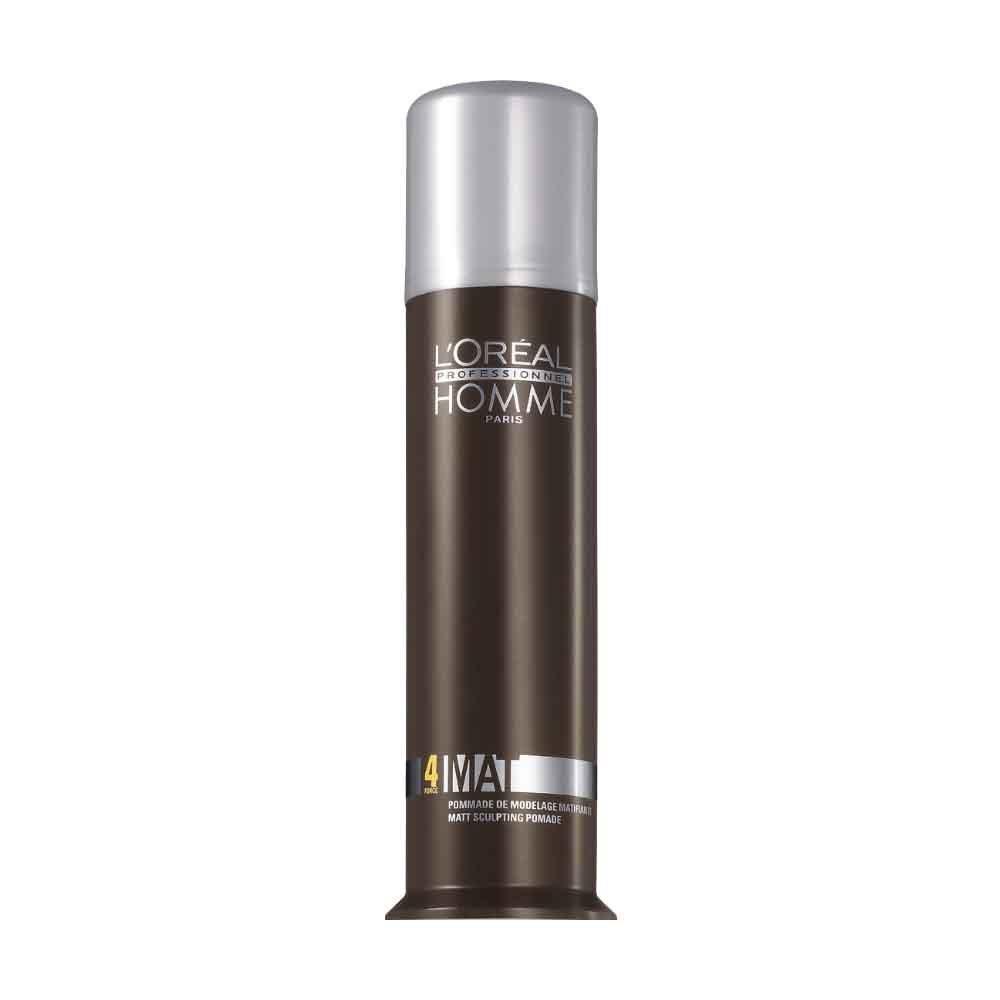 LOreal Professionnel Homme - Матирующая крем-паста для укладки волос 80 мл7208187000Матирующая крем-паста LP Homme разработана для укладки мужских волос. Она разделяет и матирует пряди и придает прическе фиксацию средней степени. Благодаря особой текстуре паста почти незаметна на волосах как визуально, так и на ощупь: волосы выглядят чистыми и естественными. Как и другие продукты линии LP Homme, крем-паста обладает элегантным мужским ароматом, что дарит удовольствие при ее применении. Средство не образовывает глянцевого блеска на волосах и не делает их жесткими.