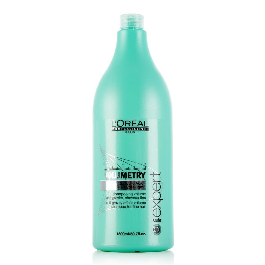 LOreal Professionnel Expert Volumetry - Шампунь для придания объёма 1500 млFS-00897Профессиональный шампунь, придающий объем ослабленным и истонченным волосам - LOreal Professionnel Volumetry Shampoo – это бережное очищение с помощью салициловой кислоты, позволяющей удалять излишки жира и тем самым приподнимать корни волос, создавая необходимый объем. Уникальная технология Intra-Cylane работает со структурой волос изнутри, делая их здоровыми и блестящими.Результат: Великолепный объем, сияние и мягкость здоровых волос на продолжительное время.